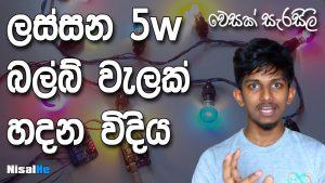 Vesak Decorations Sri Lanka - 5W Bulb Wela - 01 NisalHe
